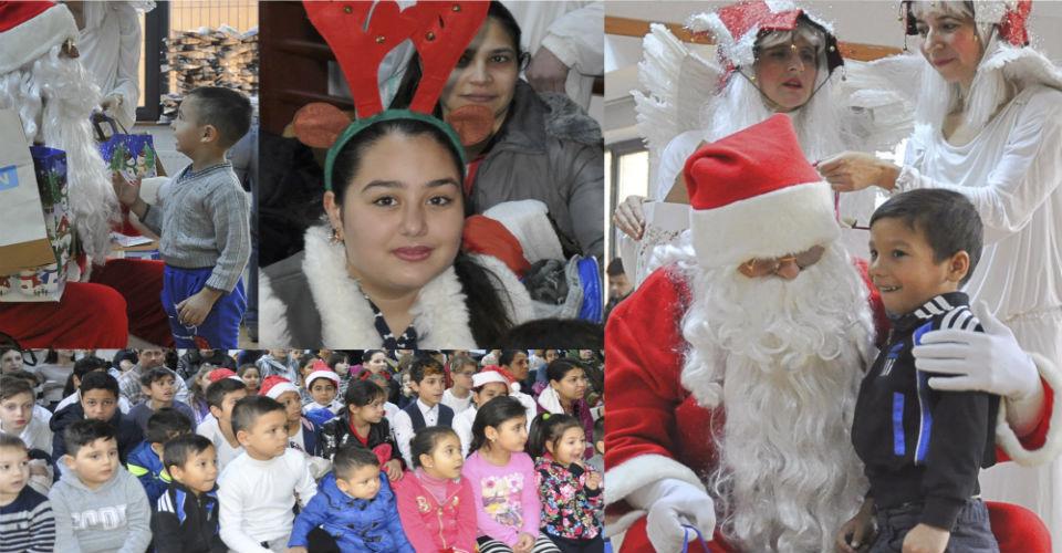 Christmas celebration for the 100 children