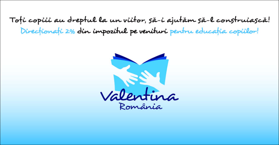 Give 2% of your income tax to the children of Valentina Romania